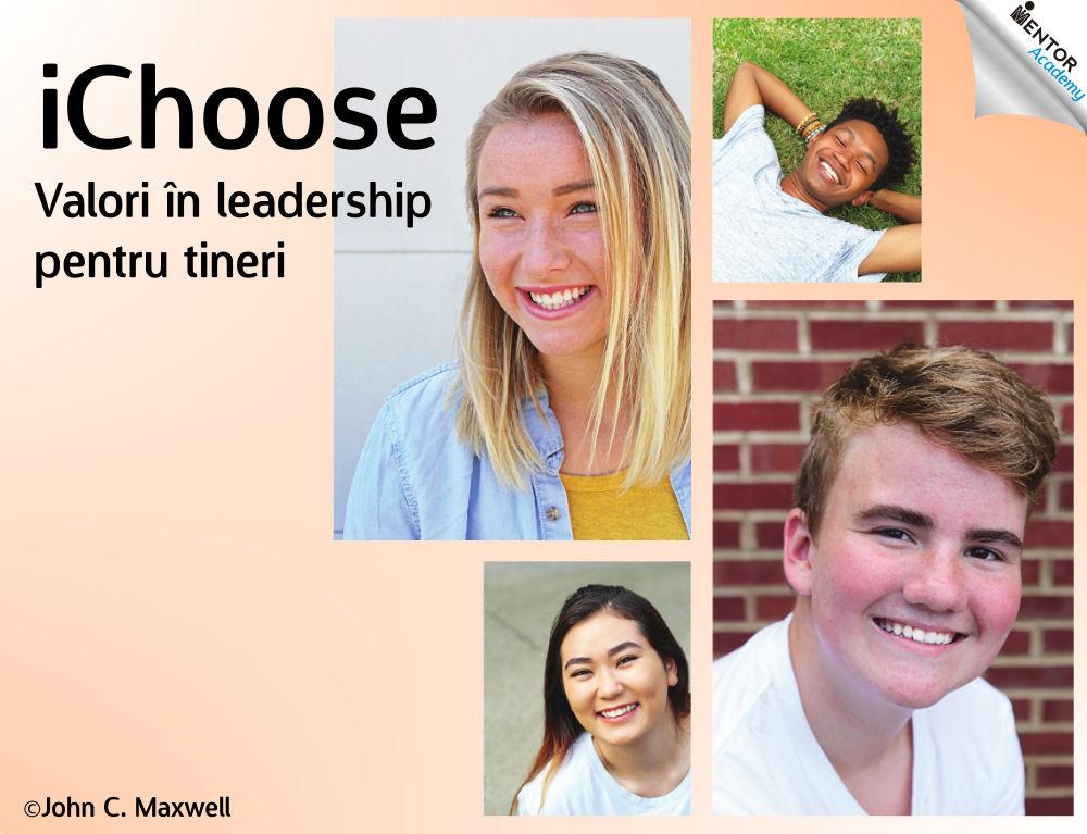 cover curs valori pentru tineri in leadership iChoose