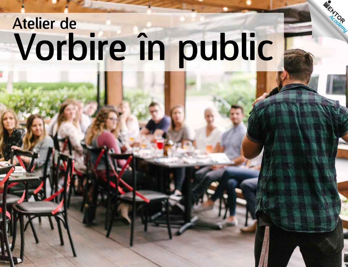 coperta atelier de vorbire in public Mentor Academy